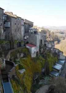 Vignanello, centro storico con scorcio di Vallerano.