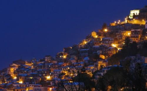 Rocca di Papa - La neve è rimasta sui tetti fino a sera