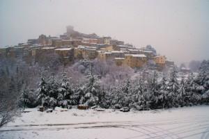 Arcidosso sorge alle pendici del monte Amiata