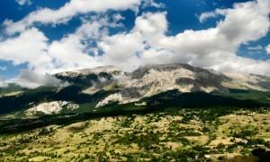La Maiella vista da Caramanico.