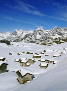 Un alpeggio con rifugio