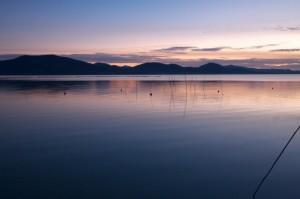 Un tramonto al Lago Trasimeno