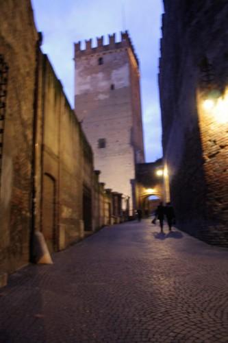 Verona - Castelvecchio verso il ponte