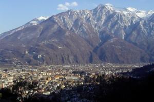 Domodossola vista salendo al monte Calvario