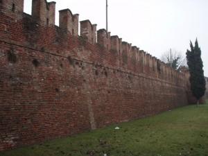 Le mura con i merli