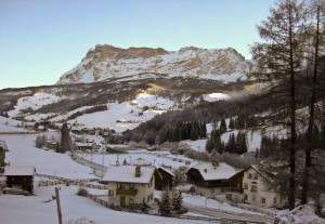 La Villa prima di inziare la giornata di sci