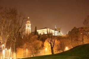 castello di udine di notte