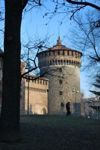 Castello Sforzesco: il torrione dei Carmini
