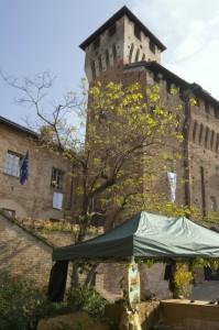 Il castello di Pozzolo Formigaro, lato Sud- Est.