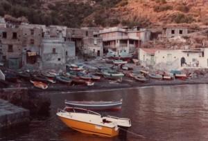 ricovero delle barche dei pescatori (stampa digit)