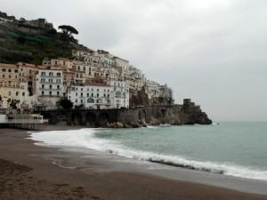 Amalfi sotto  la pioggia
