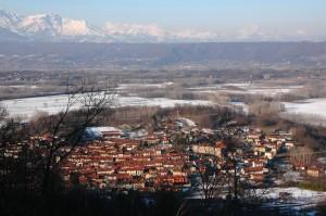 Panorama di Caravino da Masino