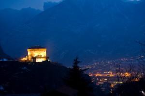 Panorama di Verres con veduta del castello