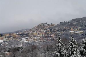Neve ai castelli romani Rocca di Papa