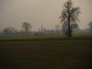 San Daniele Po nella nebbia