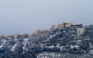 Castel Gandolfo imbiancato