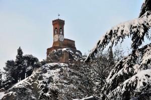 La torre dell'orologio di Brisighella.