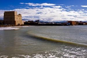 La torre di Carlo V a Porto Empedocle