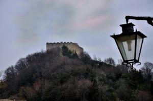 la rocca vista dal castello