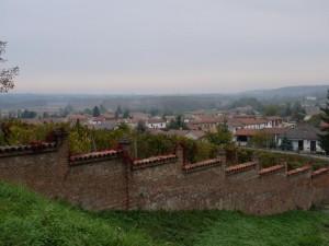 vista dal castello…