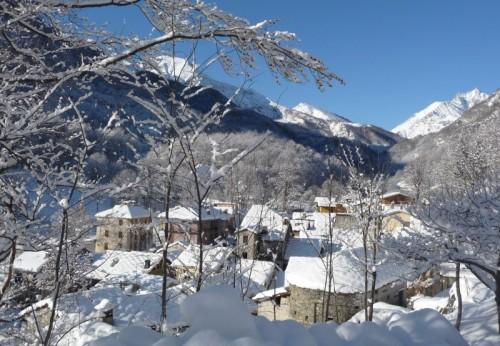 Lemie - LEMIE, Chiandusseglio dopo la nevicata