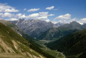 Livigno dal sentiero per la Baita del Monte