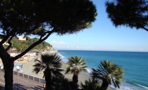 Veduta della spiaggia di Celle Ligure