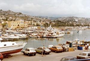 Panorama dal porticciolo di San Remo - 1984