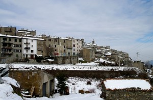 Nevicata a Castell'Azzara
