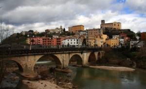 Veduta di Pontecorvo, con il fiume Liri….