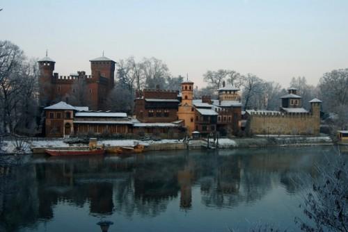 Torino - Panorama del Castello Medioevale
