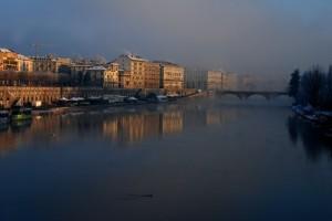 Le nebbie fino al ponte