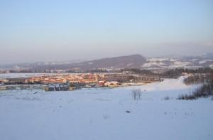 Veduta dell' Outlet di Serravalle Scrivia dalla collina