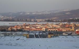 Panorama con l'Outlet di Serravalle Scrivia