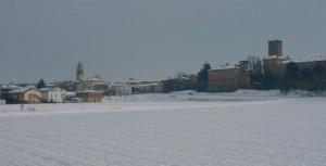 Neve di febbraio su Sarmato