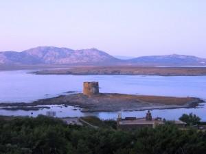 La Torre della Pelosa al tramonto