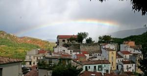 Il Centro Storico sotto l'arcobaleno