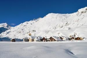 Case nella neve