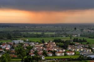 Summer landscape near rivalta di lesignano de bagni parma emilia