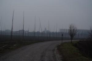 la nebbia del fiume Po ai tempi di Peppone e Don Camillo