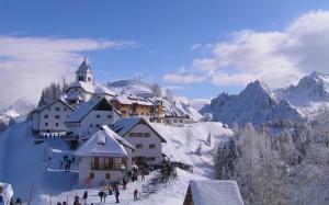 Stupendo scenario invernale