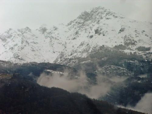 Quincinetto -   la nebbia e  Bec Renon