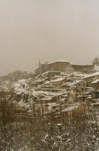 Castello del Piagnaro dopo una nevicata