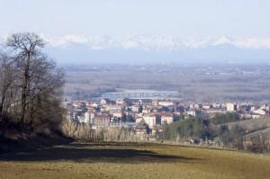 Valenza e il fiume Po.