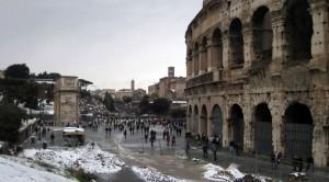 Ha nevicato a Roma!