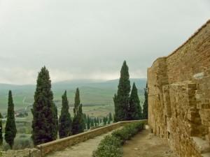 Le colline viste dalle mura