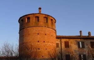 Il castello di Niviano al tramonto