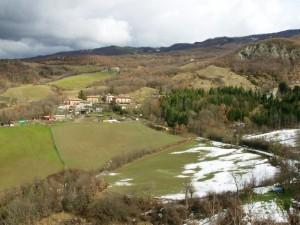 dalla torre di Rocca Corneta guardando a nord