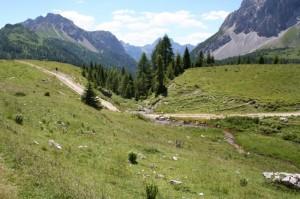 panorama della zona delle sorgenti del Piave
