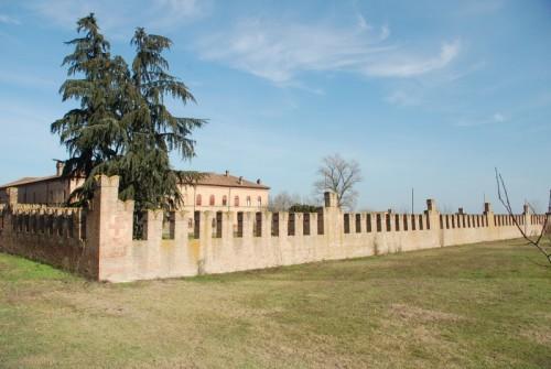 Bentivoglio - La cinta muraria posteriore del Castello